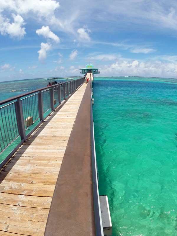 Fish Eye Underwater Observatory in Piti Bay Marine Preserve